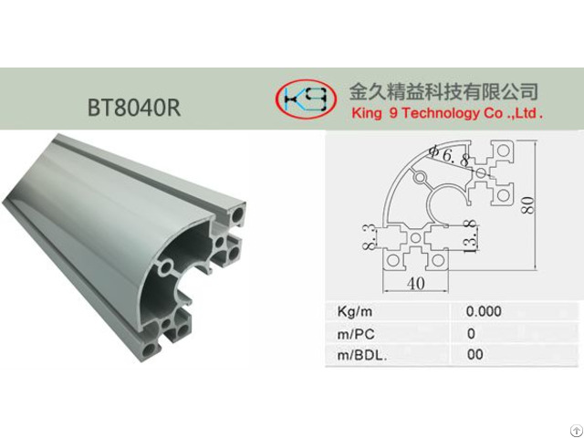 Corner Aluminum Profile Bt8040r