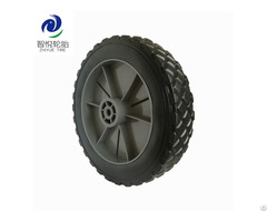 China Hot Sale 7 Inch Pvc Plastic Wheel For Folding Wagon Tool Cart Lawn Mower Wholesale