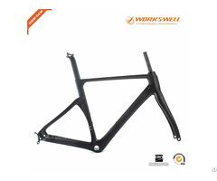 New Design China Full Carbon Road Bike Frame Witt V X Disc Brakes