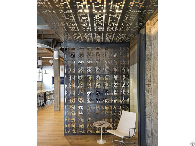 Perforated Metal Panels For Space Partition Wall Design