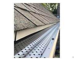 Perforated Metal Leaf Guards Keep Your Gutters Clean