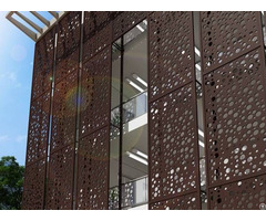 Cnc Punching Perforated Metal Panels For Architectural Ornament