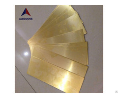High Quality Brass Plastic Composite Panel Copper Panels