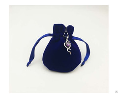 Round Velvet Jewelry Drawstring Bag