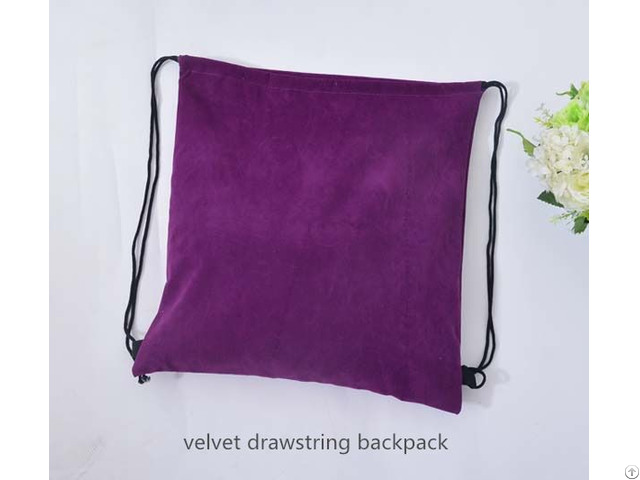 Cutomize Velvet Drawstring Backpack