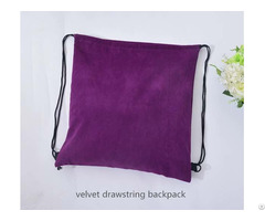 Cutomize Velvet Drawstring Backpack
