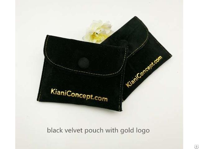 Black Velvet Bracelet Pouch