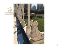 Marble Gallery Long Corridor Gazebo For Wedding