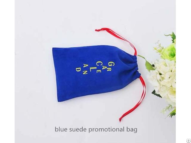Suede Drawstring Jewelry Bag