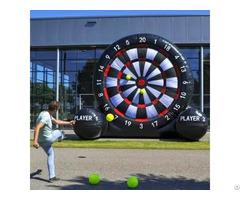 Inflatable Football Velcro Dart Shooting Outdoor Fun Sport Game