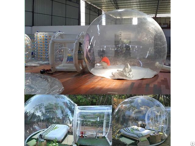 Pvc Air Pumped Up Mobile Camp Bubble Tent