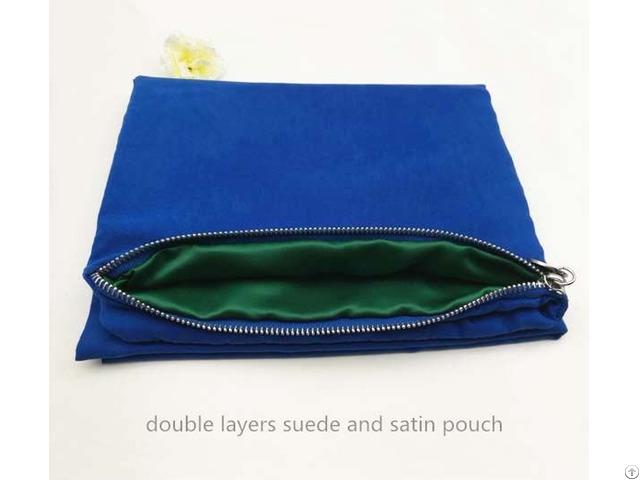 Double Layers Suede Zipper Bag Clothes Organizer
