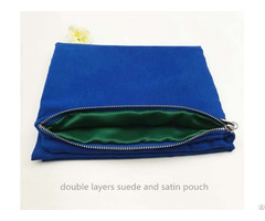 Double Layers Suede Zipper Bag Clothes Organizer
