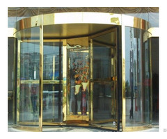 high Quality Gold Color Automatic Revolving Stainless Steel Hotel Door