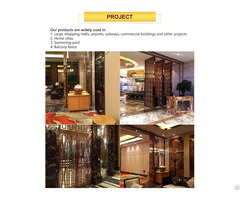 Modern Unique Room Divider Partitions Decorative Metal Stainless Steel Partition Screen