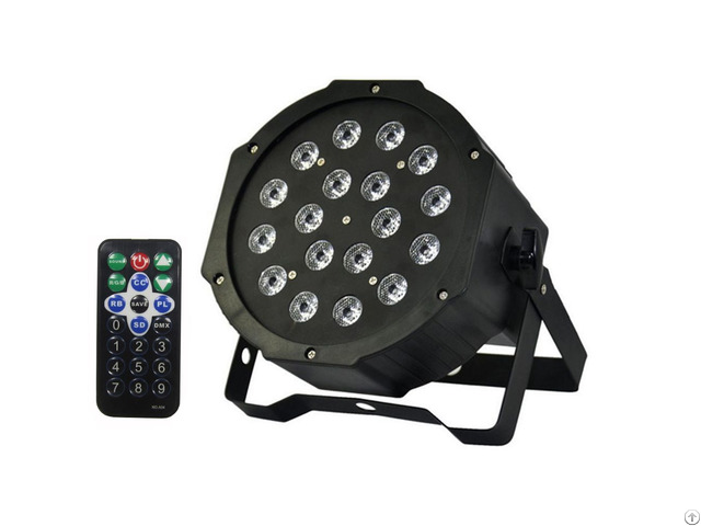 Rgb 18leds Wash Par Light By Remote Control Dmx For Wedding Church Stage Lighting