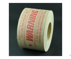 "Custom Printed Gummed Paper Tape 2 Rolls 3"" X 375 1 Color Print"