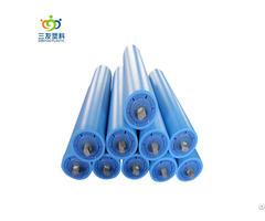 Idler Plastic Coated Conveyor Rollers Material Handling