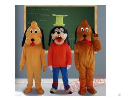Goofy Dog Cartoon Mascot Costumes For Adult