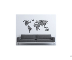 Linewallart World Map Figure Portrait