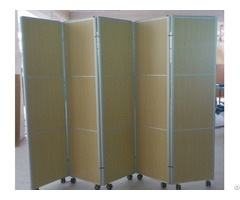 New Style Folding Screen Room Division Aluminum Frame Wheels Non Straightening