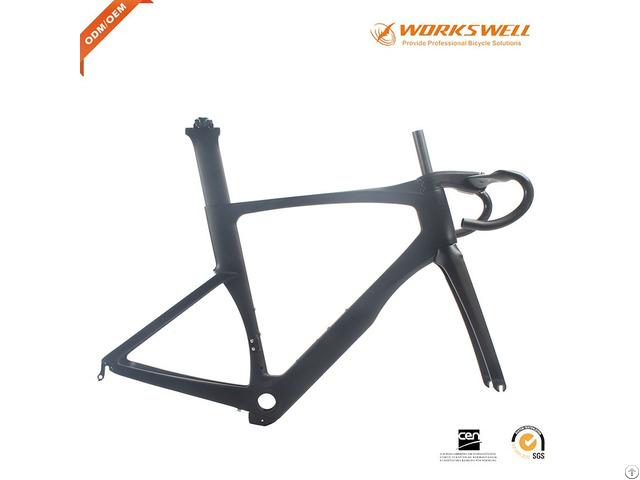 Full Monocoque Aerodynamic Carbon Road Bikes Frame Di2