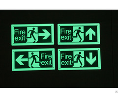 China Customized High Quality Photoluminescent Emergency Signs Manufacturer