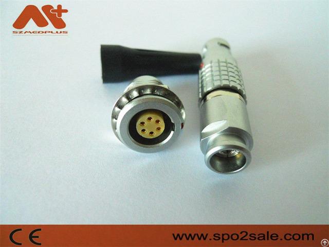B Series 6 Pins Metal Circular Push Pull Connector Compatible Lemo Fgg Plug