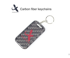 Oem Fashionable Pure Carbon Fiber 3d Keychain