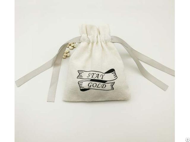 Cotton Drawstring Jewelry Bag