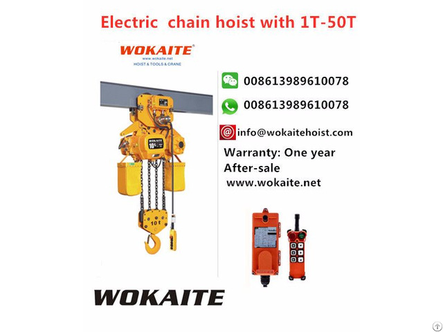 Wokaite New Type Electric Chain Hoist With10t