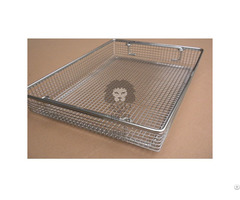 Instrument Sterilization Basket For Endoscopes Stainless Steel Perforated
