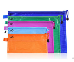 Pvc Mesh Zipper Document File Organizer Bag