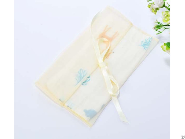Organza Sheer Envelope Bag With Silk Ribbon Bowknot