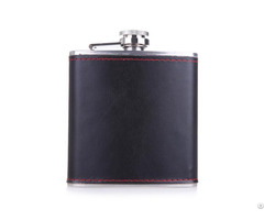 Wholesale Leather Wrap Stainless Steel Hip Flask