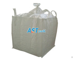 Four Loops Jumbo Bag For Pet Resin With Loading And Discharging Spout