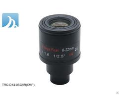 "5mp 6 22mm 1 2 5"" Varifocal Motorized Lens For Hd Cctv Security Ip Camera"