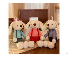 Product 2019 Hot Selling Wholesale Custom Decoration Cute Long Eared Rabbit Plush Stuffed Toy
