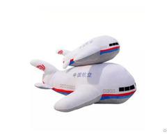Beautiful Appearance 100% Polyester Fibers Custom Plush Plane Toy