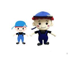 Custom Handsome Small Stuffed Soft Plush Girl Boy Dolls