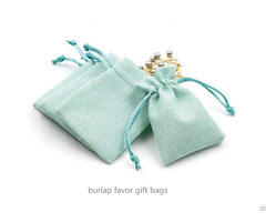 Burlap Jewelry Bag