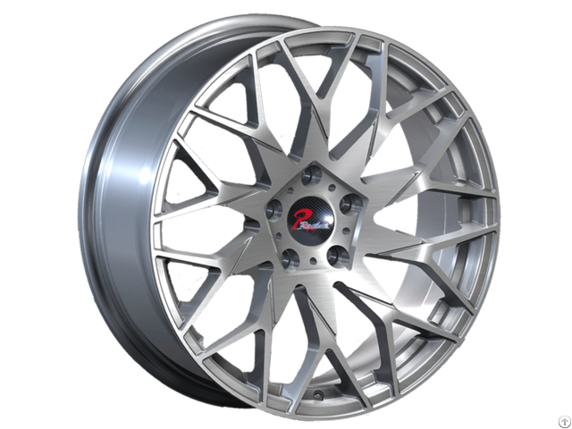 Brushed Silver Matt Balck Aluminum Wheels Jihoo
