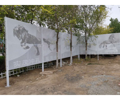 Picture Perforated Metal Fencing Aluminum Perforaed Plate