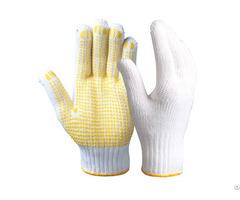 String Knit Safety Work Gloves Skg 03