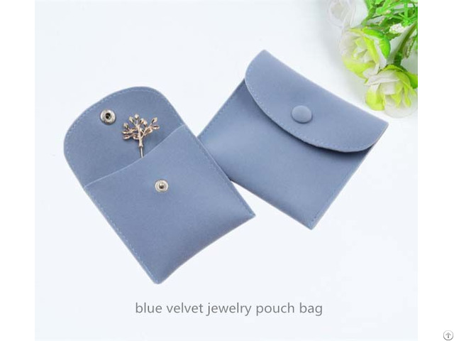 Blue Velvet Jewelry Pouch