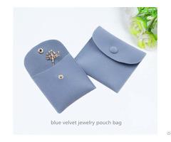 Blue Velvet Jewelry Pouch