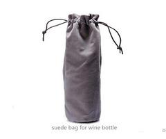 Suede Wine Bottle Bag