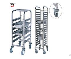 Stainless Steel Singel Unit Rack Trolley Knock Down