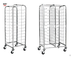 Stainless Steel Wire Shelf Trolley Designed For Cake Trays