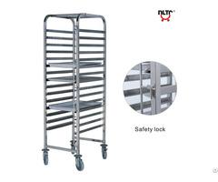 Stainless Steel Single Unit Rack Trolley